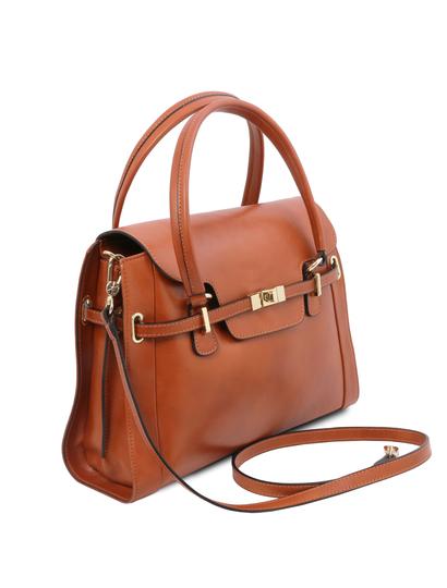 Geanta Tuscany Leather din piele honey, Neoclassic