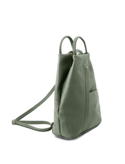 Rucsac de dama piele naturala Tuscany Leather, verde, Shanghai