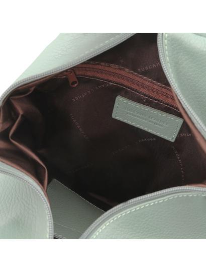 Rucsac dama piele naturala Tuscany Leather, verde, Shanghai