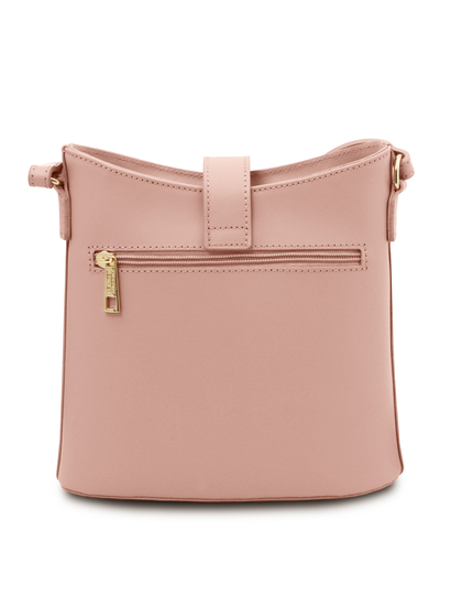 Geanta dama piele naturala roz pudrat, Tuscany Leather, Teti