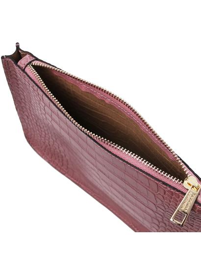 Plic dama piele naturala, lila, Tuscany Leather, Cassandra