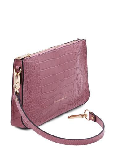 Plic de dama din piele naturala, lila, Tuscany Leather, Cassandra