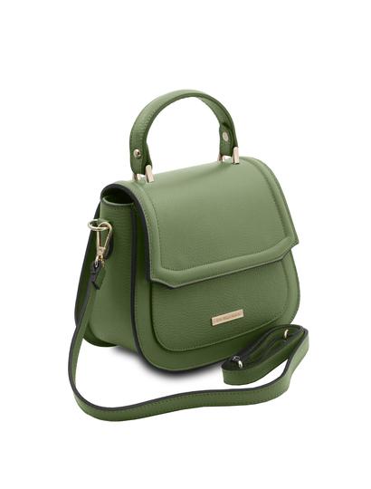 Geanta dama de mana din piele naturala verde Tuscany Leather