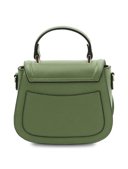 Geanta dama de firma din piele naturala verde menta Tuscany Leather