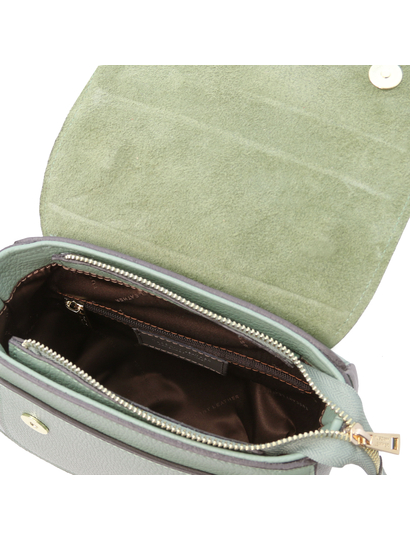 Geanta dama lux din piele naturala verde menta Tuscany Leather