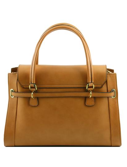 Geanta de mana Tuscany Leather piele honey, Neoclassic