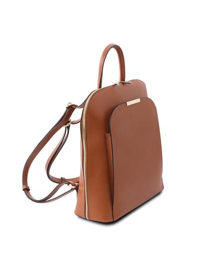 Rucsac elegant dama din piele naturala coniac, Tuscany Leather