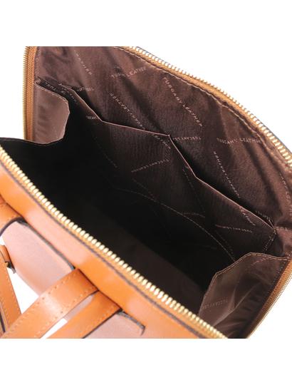 Rucsac de dama din piele naturala coniac, Tuscany Leather