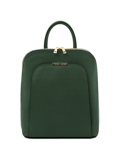 Rucsac dama din piele naturala verde Tuscany Leather