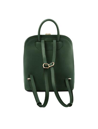 Rucsac elegant dama din piele naturala verde Tuscany Leather