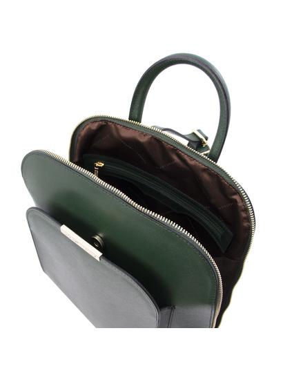 Rucsac dama piele naturala verde Tuscany Leather