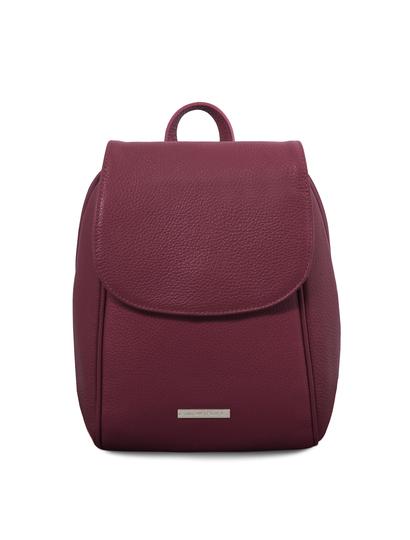Rucsac dama din piele naturala bordo, Tuscany Leather, TL Bag