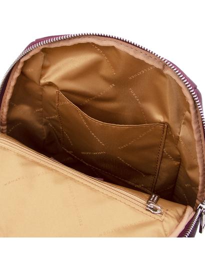 Rucsac soft de dama, piele naturala bordo, Tuscany Leather, TL Bag