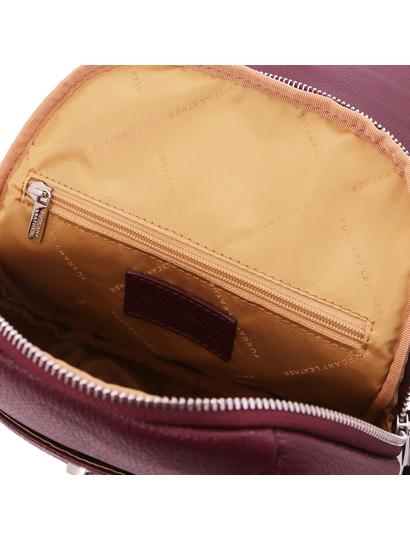 Rucsac bordo de dama, piele naturala, Tuscany Leather, TL Bag