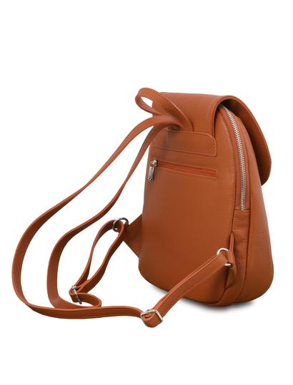 Rucsac de dama, piele naturala coniac, Tuscany, TL Bag
