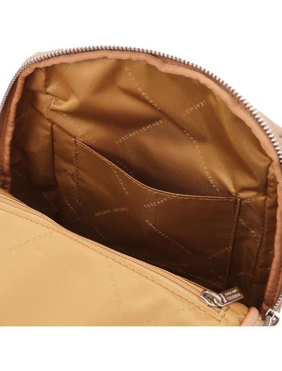 Rucsac soft de dama, piele naturala grej, Tuscany Leather, TL Bag