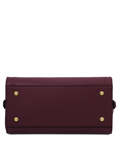 Geanta de mana, piele naturala, Tuscany Leather, bordo, Brigid