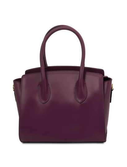 Geanta mana, piele naturala, Tuscany Leather, bordo, Brigid