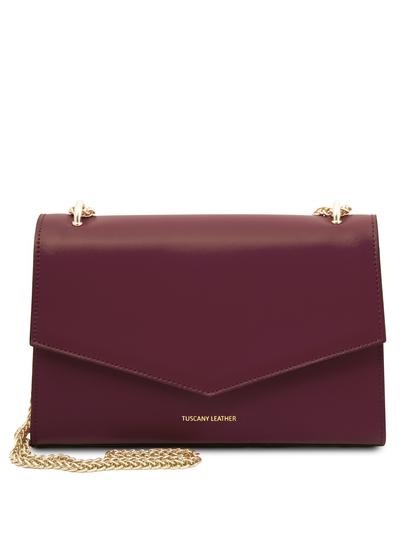 Plic dama, din piele naturala bordo, Tuscany Leather, Fortuna