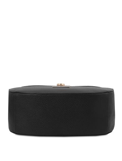 Geanta dama de umar piele naturala, neagra, Tuscany Leather, Fresia