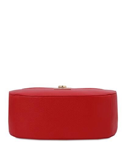 Geanta de dama piele naturala, rosie, Tuscany Leather, Fresia