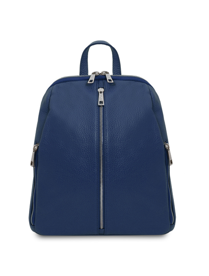 Rucsac dama din piele naturala albastra, Tuscany Leather, TL Bag