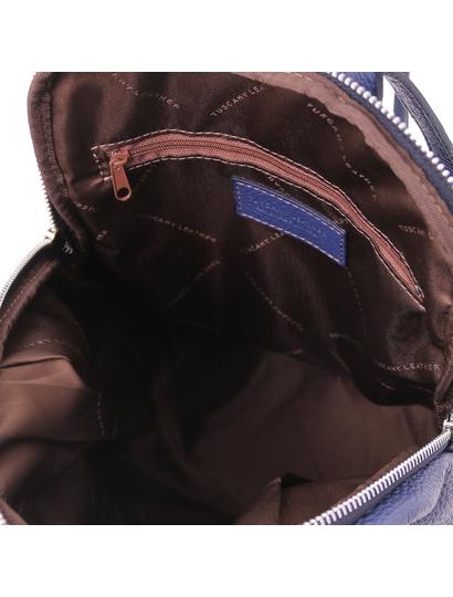 Rucsac de dama, din piele naturala albastru, Tuscany Leather, TL Bag