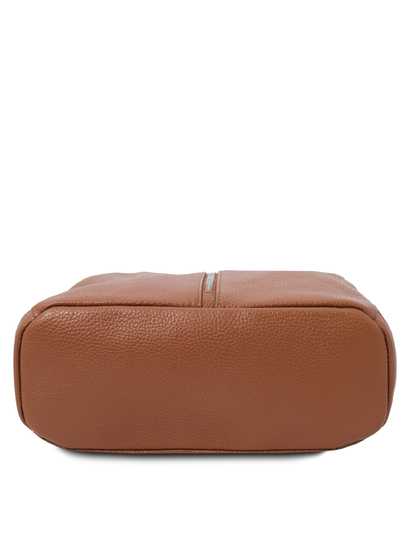 Rucsac dama, piele naturala coniac, Tuscany Leather, TL Bag