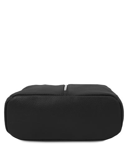 Rucsac dama, piele naturala neagra, Tuscany Leather, TL Bag