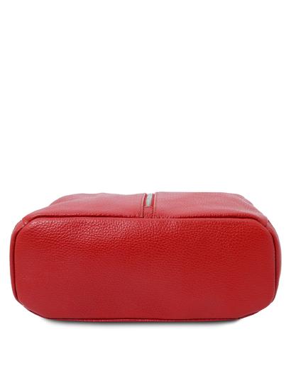 Rucsac dama, piele naturala rosie, Tuscany Leather, TL Bag