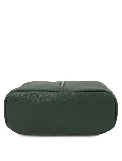 Rucsac elegant dama, din piele naturala verde, Tuscany Leather, TL Bag
