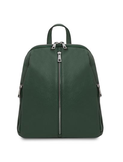 Rucsac dama din piele naturala verde, Tuscany Leather, TL Bag
