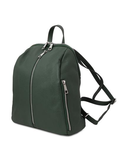 Rucsac dama, din piele nat verde, Tuscany Leather, TL Bag