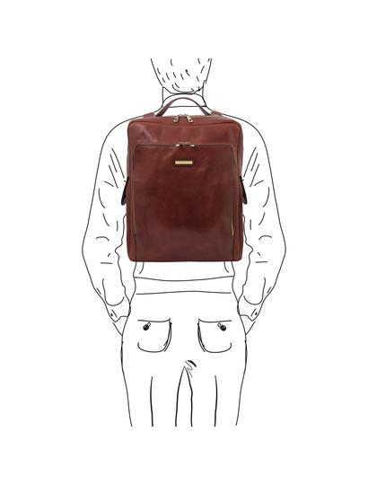 Rucsac laptop piele naturala maro, Tuscany Leather, Bangkok