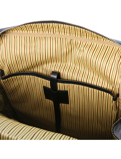 Rucsac barbati laptop din piele naturala neagra, marime mare, Tuscany Leather, Bangkok
