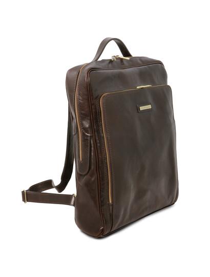 Rucsac mare laptop din piele naturala maro inchis, Tuscany Leather, Bangkok
