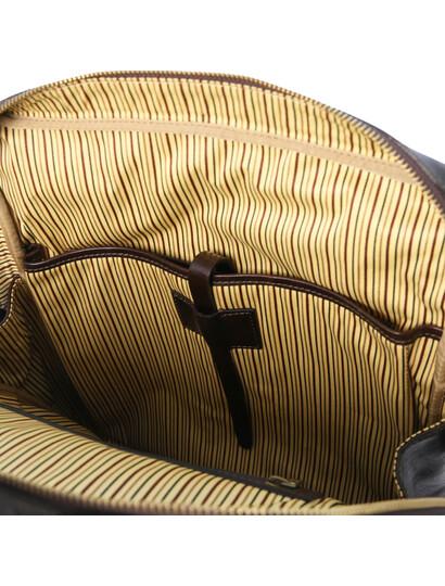 Rucsac laptop piele naturala maro inchis, marime mare, Tuscany Leather, Bangkok
