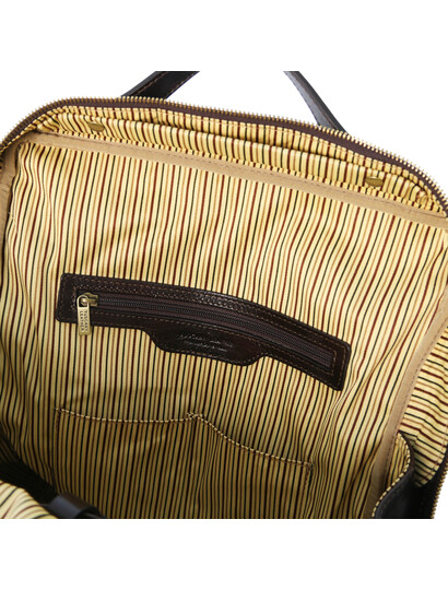 Rucsac barbati laptop din piele naturala maro inchis, marime mare, Tuscany Leather, Bangkok