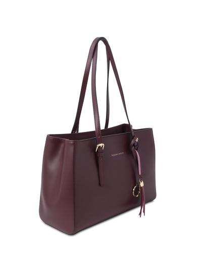 Geanta dama, piele naturala bordo, Tuscany Leather, TL Bag