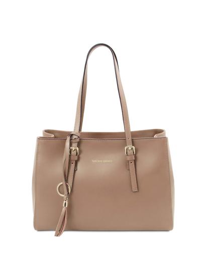 Geanta dama, piele naturala sampanie, Tuscany Leather, TL Bag