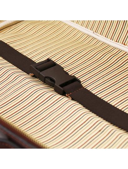 Geanta laptop din piele naturala Tuscany Leather, maro, Vicenza