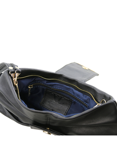 Plic  de piele naturala Tuscany Leather, negru, Priscilla