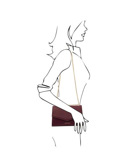 Plic piele naturala bordo, Tuscany Leather, Fortuna
