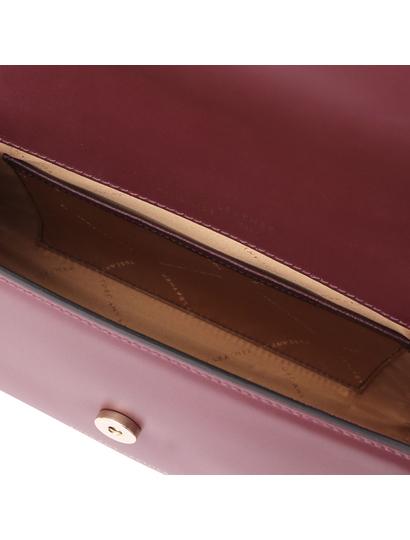 Plic dama din piele naturala bordo, Tuscany Leather, Fortuna