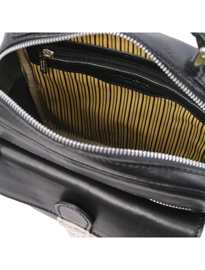 Geanta barbati, piele naturala neagra, Tuscany Leather, Brian