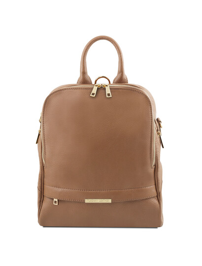 Rucsac dama din piele naturala Tuscany Leather, grej, TL Bag