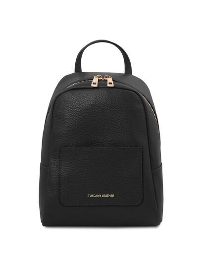 Rucsacel dama din piele naturala neagra, Tuscany Leather, TL Bag