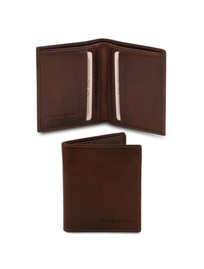 Portofel barbati din piele naturala maro inchis, Tuscany Leather