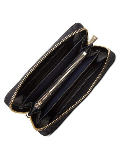 Portofel dama din piele naturala neagra Lancaster Delphino 127-07-3