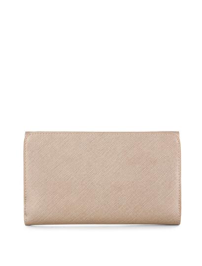 Portofel piele naturala sampanie Lancaster Saffiano Signature 127-03-2